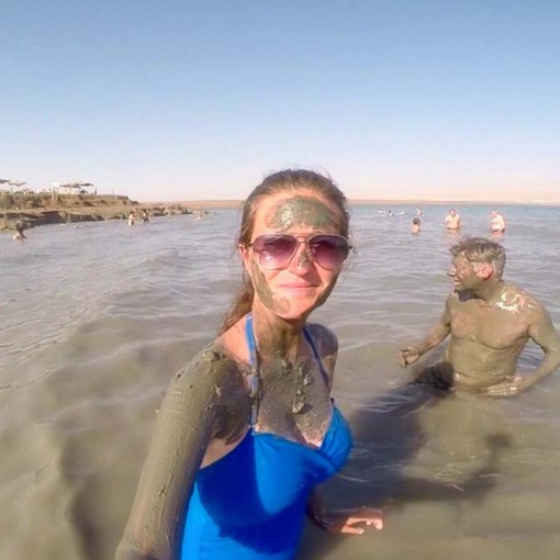 Adventuring through the Dead Sea.