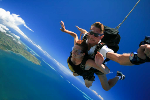 Skydiving in Fiji.