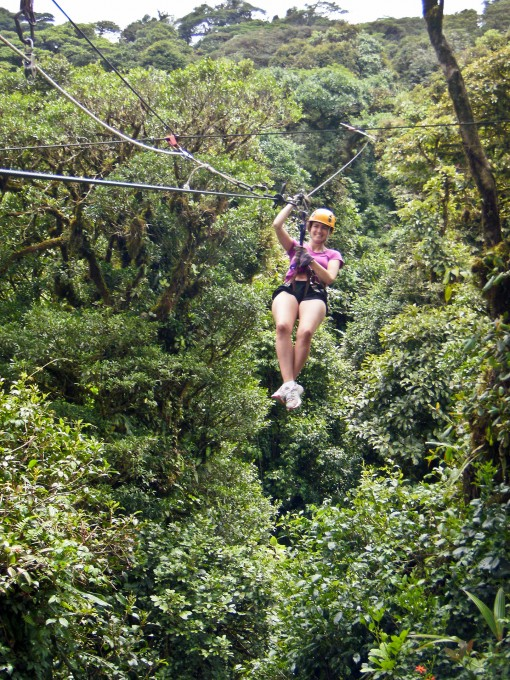 Ziplining in Costa Rica.