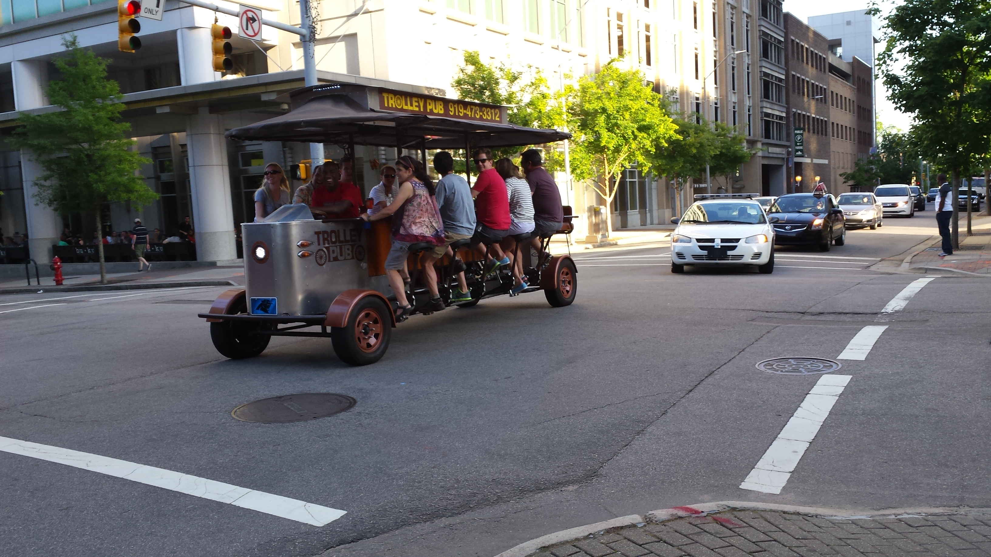 Beer pedal bike in Raleigh