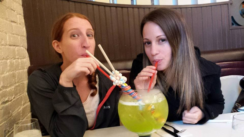 Sara and Stefania at Sugar Factory NYC