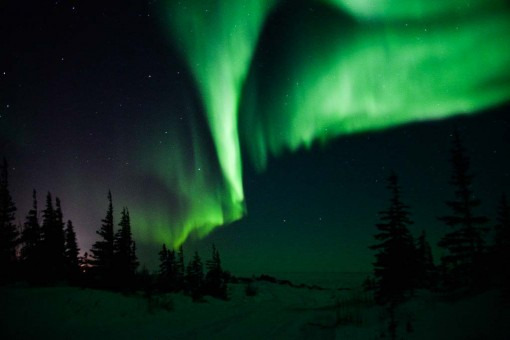 The Northern Lights as seen from Norway House, Manitoba, Canada.