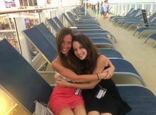 Nicole and Stefania aboard the Norwegian Getaway